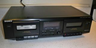 Sony TC WE305 Stereo Dual Cassette Deck Player with Dolby Record Dolby B