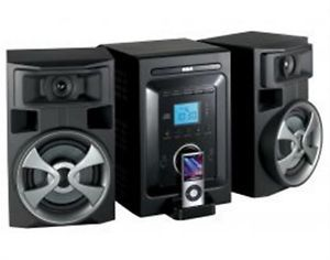 RCA RS2696I Shelf Stereo System CD Player Black w iPod Dock