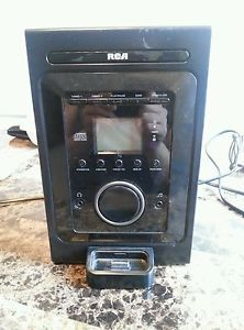 RCA RS2696I Shelf Stereo System CD Player Black w iPod Dock No Speakers 062118426967