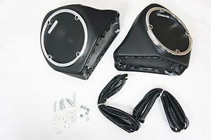 Harley Davidson HD Touring Tour Pak Speaker Pods Kit w 5 25 Speaker Built In