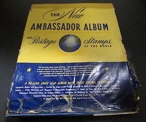 New Ambassador for Postage Stamps Album of Vintage Stamps Honor Bilt