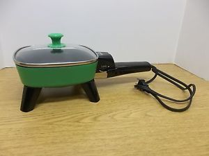 Small Rival Green Electric Skillet Dorm College Office Work Camping Travel