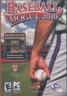 Baseball Mogul 2010 MLB Base Ball Management Sports Simulation PC Game New 646662901158