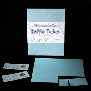 perforated raffle ticket paper
