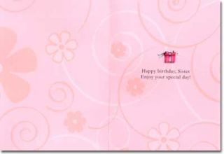 Girl Panda with Stack of Presents Sister Birthday Card by Freedom Greetings