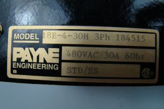 Payne Engineering 480 Volt Solid State Power Control 18E 4 30H