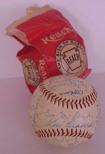 1958 Old Timers Game Signed Ball Dizzy Dean Joe Cronin GOOSE Goslin 26 More