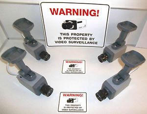 Lot of Fake Security Surveillance Zoom Camera LED Signs