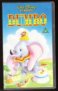 Disney Dumbo VHS PAL UK Video Authentic Holograms