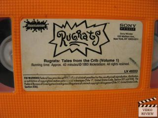 Rugrats Vol 1 Tales from The Crib VHS Nickelodeon Home Video