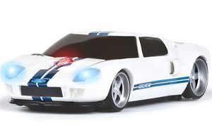 Road Mice Ford GT Car Wireless Computer Mouse White Blue Stripes