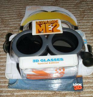 Best Buy Exclusive Despicable Me 2 Minion Replica 3D Glasses Goggles New