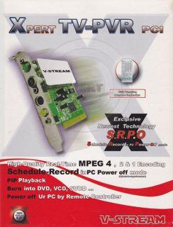 Xpert TV PVR 878 TV Radio Tuner Video Input Adapter PCI