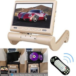 """New 8 5"""" Car Central Armrest TFT LCD Monitor DVD Player w SD USB Game Function"""