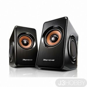 Royche Mr 1200 Laptop Desktop 2CH Stereo 3D Speaker USB Powered Black
