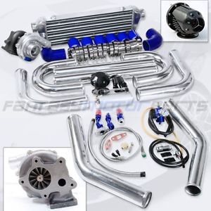 Universal T3 T04E T3 T4 Turbo Kit 57AR Turbo Charger Intercooler 2 5'' Pipe Kit