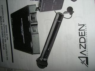 Azden Infrared Wireless Microphone System