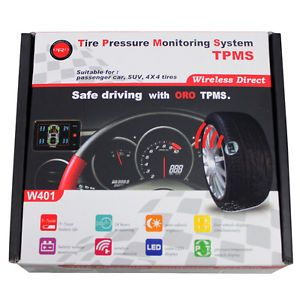 New Oro TPMS Kit Wireless Tire Pressure Monitoring System W401 Car