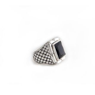 Novica The Putu Gede Darmawan Artisan Onyx Kingdom of Night Mens Ring