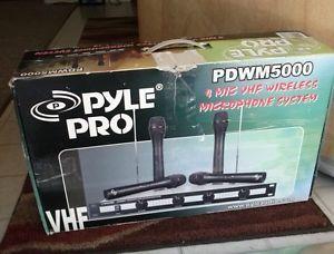 Pyle Pro PDWM5000 4 Mic VHF Wireless Microphone System