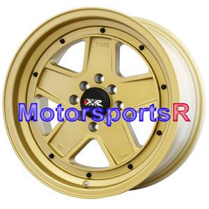 16 16x8 XXR 532 Flat Gold Wheels Rims Deep Dish Stance 95 98 Honda Civic SI EX