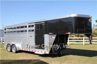 New 2014 Sundowner Rancher TR Aluminum Cattle Livestock Horse Gooseneck Trailer