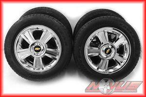 "20"" Chevy Tahoe LTZ Silverado GMC Yukon Chrome Wheels Goodyear Tires 22"