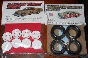 NASCAR 1 25 Goodyear Tires 70's Slotted Wheels Set Model Part Stock Car