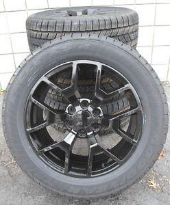 "20"" GMC Yukon Sierra Brand New 2014 Factory Style Black Wheels Goodyear Tires"
