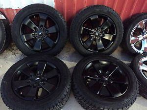 09 13 Factory Ford F150 Painted Black FX2 Wheels and Goodyear Tires KB108F