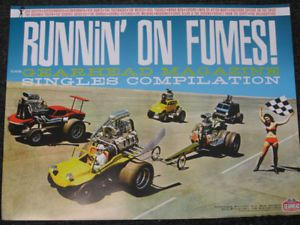 Runnin on Fumes Promo Poster Girls Hot Rods Cars Garage Punk GearHead Records CD