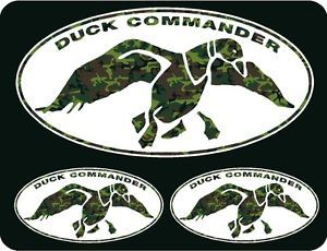 Duck Dynasty Duck Commander Green Camo Decal Stickers Pack