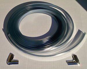 73 75 78 80 85 87 Chevy Truck Chrome Rear Glass Channel Locking Strip