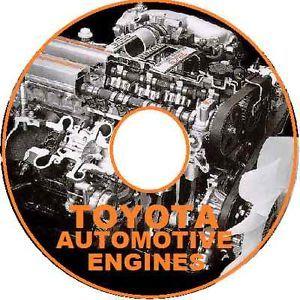 Toyota Engine Workshop Manual Petrol Diesel CDROM 4AGE 1FZ FE 1VD FTV More CD