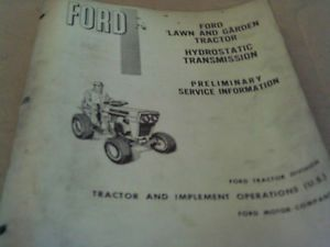 Ford Lgt Hydrostatic Transmissions Service Manual Tractor