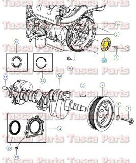 Flexplate or Flywheel Backing Plate 1997 2011 Dodge Chrysler Jeep 4471933