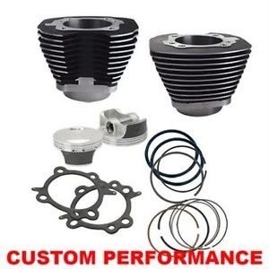 """S s 97"""" inch Cylinder Piston Big Bore Kit Harley Twin Cam 88 Black New"""