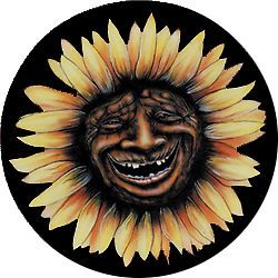 Sunflower Face Custom Spare Tire Cover Wheel Cover