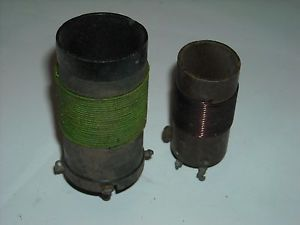 Vintage Antique Radio Part Lot of 2 RF Choke Antenna Tuning