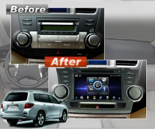 "Camera 8"" Stereo Car DVD Player Radio GPS Navigation for Toyota Highlander"
