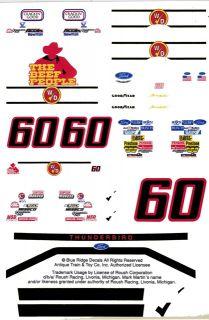 60 Mark Martin Winn Dixie 1 64th HO Scale Slot Car Decals
