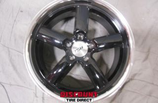 4 Used 18x8 5x112 5 112 TSW Stowe Gloss Black Machined Lip Wheels Rims