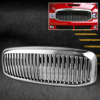 06 08 Dodge RAM Pickup Chrome Plated Vertical Style Front Hood Sport Grille