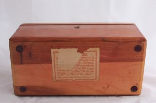 Lane Cedar Miniature Chest Vtg Watch Cufflink Belt Accessory Box