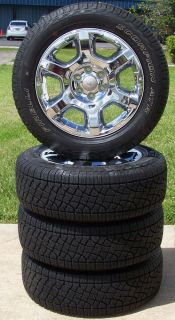 """Set of 4   20"""" Factory Alloy Wheels with Pirelli Tires Fits 2004 2013 Ford F150"""