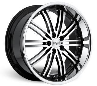 22 Niche Touring Wheels Black BMW 7 Series 745 750 760 E65 E66 Lip Staggered MHT
