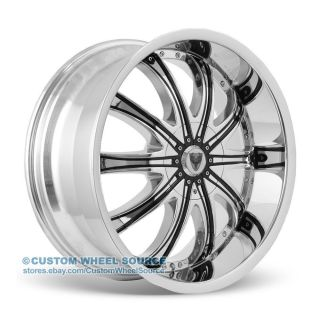 "28"" Venice Roma Chrome Wheels Tires Package for Cadillac Chevy Chevrolet"