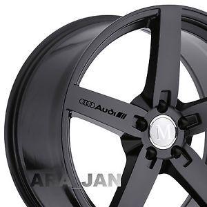 4 Audi Wheels Decal Sticker Emblem Logo Sport Racing Window Door Black