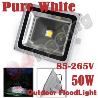 LED 50W Yard Landscape Flood Light Lamp 85 265V Pure White