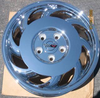 "17"" Factory Chevy Corvette C4 Chrome Wheel Rim 1 Left"